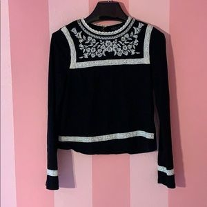 Topshop embroidered long-sleeve